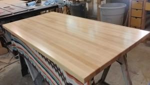 Hard maple edge grain butcher block counter top
