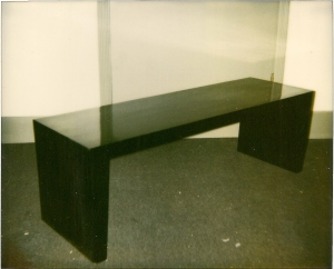 Bench-Black Lacquer