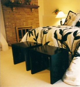 Black Lacquer Benches