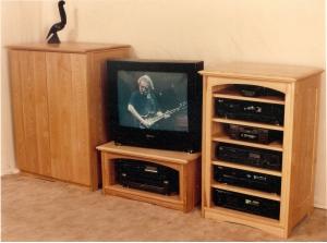 Ash Media Cabinets