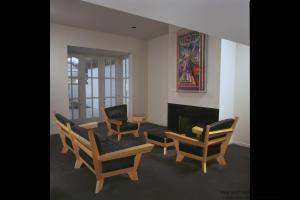 Living Room Suite-Birds-Eye Maple and Italian Leather
