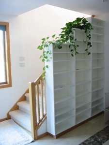 White Lacquer Shelving