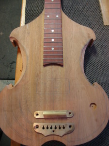 Lap steel in progress
