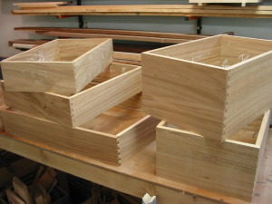 White Oak Drawer Boxes