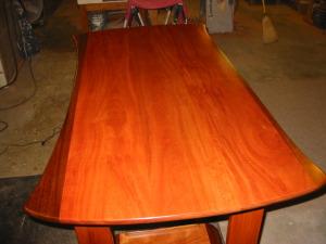 Bubinga, sapele standing desk