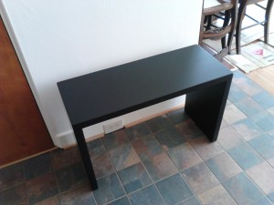 Foyer Bench-Dull Black Lacquer