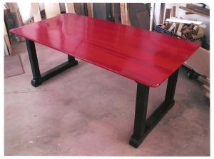 Soft maple top/douglas fir base/cherry red stain/ebony stain/Lacquer