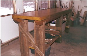 Workbench from Recycled materials