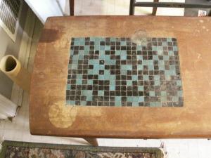 Danish Coffee Table-Before restoration