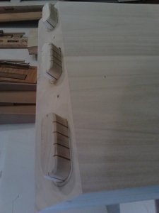 Grooves prevent glue build up which wouldn't allow tenons to seat properly