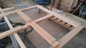 Mortise and tenon, 1/2 lap joints