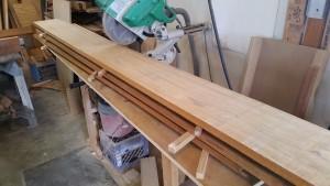 Rough sawn teak