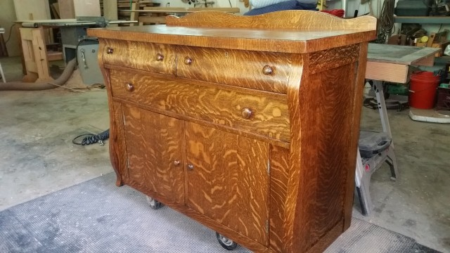 White Oak Buffet Restoration