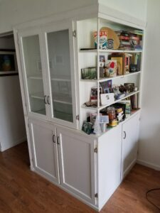 Cabinet after, new doors and shelves.
