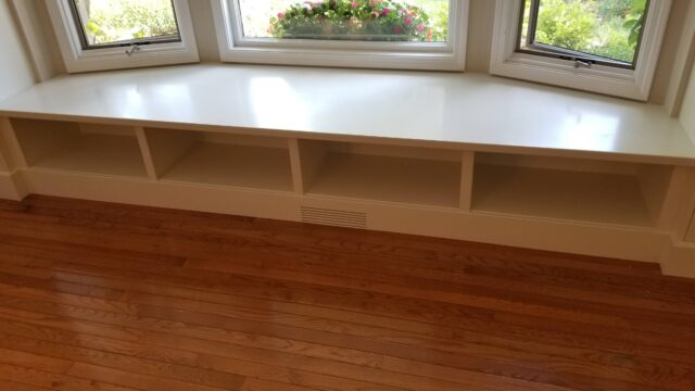 Built In Window Seat/Bookcases